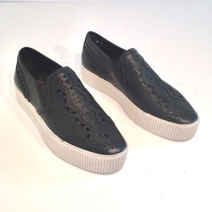 Ash slip on sneakers sz 37 NWT black faux leather